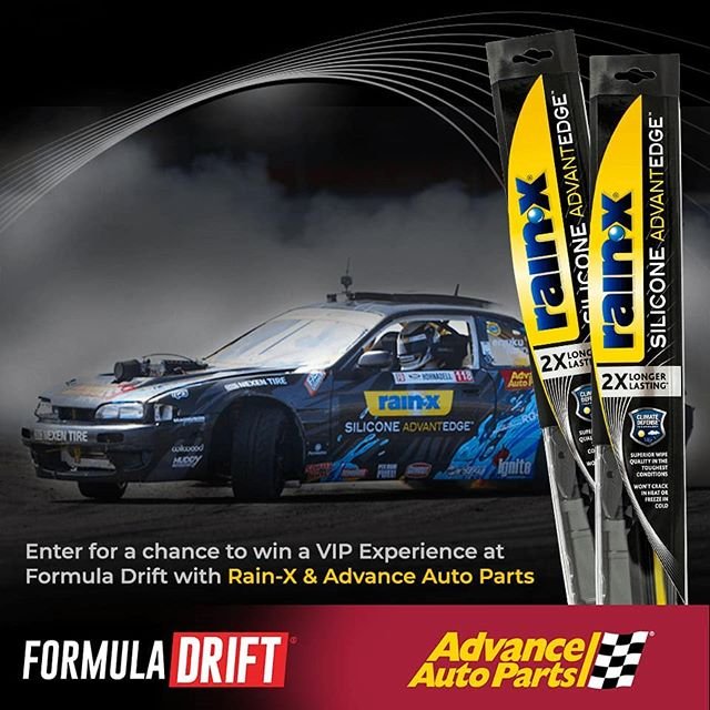 Drift to the Edge with NEW @officialrainx  Silicone AdvantEdge wiper blades and @advanceautoparts ! Enter for a chance to win a trip & VIP experience at a 2019 Formula Drift Race.  Offer valid 9/27/18 – 12/26/18 www.rainxsiliconewipers.com