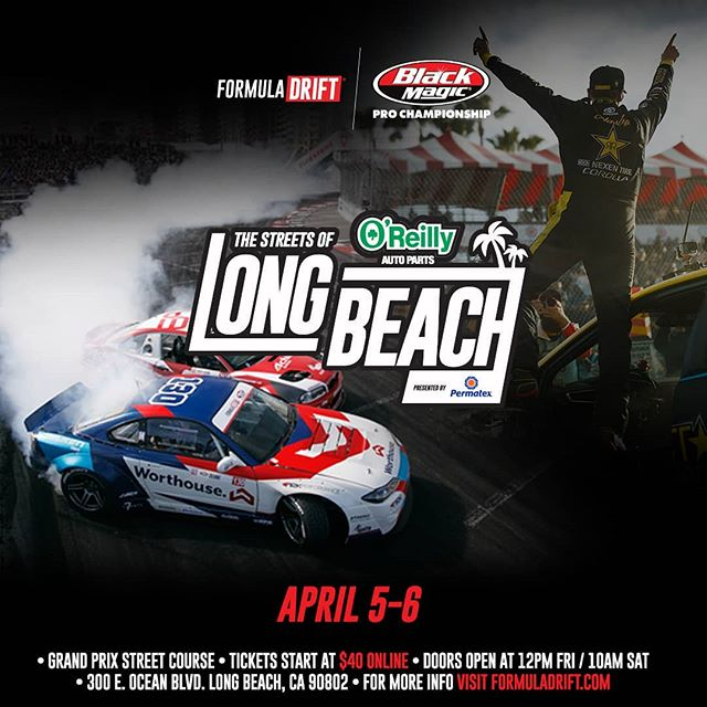 """The Streets are calling...and they are saying """"Get your tickets now!"""" We'll see you at @oreillyautoparts RD1: The Streets of Long Beach presented by @permatexusa on Apr 5-6th. Tickets on Sale Now: (link in bio)"""
