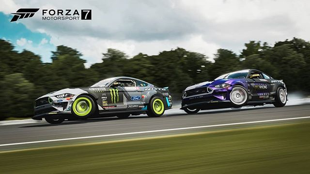 This is WILD! You can download your very own @vaughngittinjr and @chelseadenofa's Spec 5-Ds AND the Mustang RTR Spec 5 for Forza Motorsports 7!! FD 2019 | @BlackMagicShine @oreillyautoparts RD1: The Streets of Long Beach presented by @permatexusa on Apr 5-6th. Tickets on Sale Now: (link in bio)