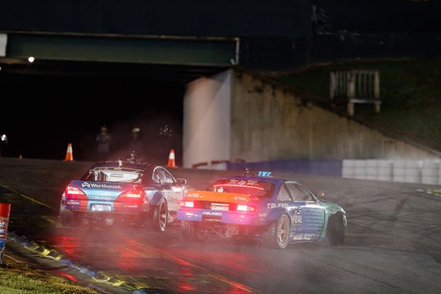 Brakes on a bus, brakes on a car. Breaks to make you a superstar! @FalkenTire | @OdiDrift vs. @JamesDeane130  FD 2019 | Break it up at @advanceautoparts RD4: The Gauntlet by @blackmagicshine in Wall, NJ. June 7-8. Tickets: (link in bio)