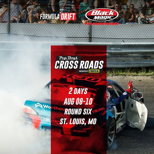 2 days until the actions comes to @PepBoysAuto RD6: Crossroads presented by @OfficialRainX in St. Louis, MO. August 9-10 Tickets: (link in bio)  FD 2019 | @BlackMagicShine
