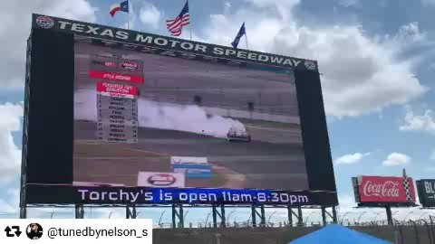 Up on the worlds largest TV. The RX8 really ran strong this past weekend.  Making power and running strong in the texas heat. @tunedbynelson_s & @mazdatrixofficial keeping us running strong all year long.   @americanethanol @growthenergy @exedyusa @mazdatrixofficial @precisionturbo @mishimoto @wppro.taiwan @xxrwheel @meganracing @swiftsprings  @haltechecu @getnrg @wraplegends @radiumengineering @drinkdoc @officialdnagarage  @thunderboltfuel @_wisefab_  @sikkymanufacturing @ptpturboblankets @nferaclub @edelbrockusa @ef1motorsports @winmaxusa @hillcofastenerwarehouse @billetinc @tunedbynelson_s @zerekfabrication @officialngksparkplugs @nexentireusa @drinkdoc @pickpros  @tunedbynelson_s with @repostsaveapp ・・・ Excellent qualifying run !!!!