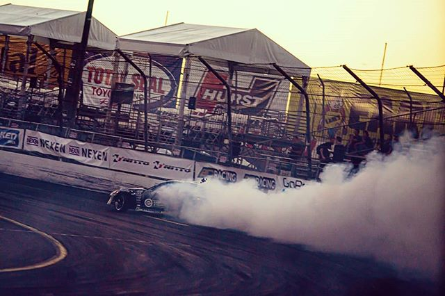Nexen Smoke clouds at Irwindale. What a wild event. @formulad gets bigger every year.  Looking forward to a busy off season and SEMA this year is far from over.  @nexentireusa @nferaclub