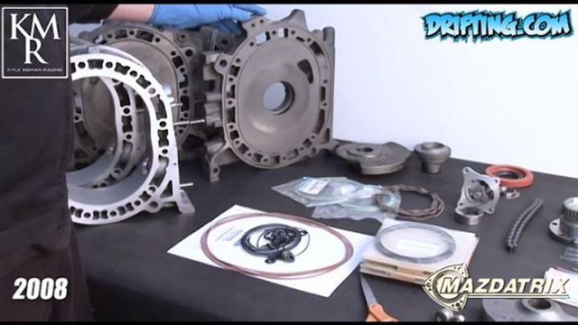 Rotary Tips with @kylemohanracing - 13B Engine Rebuild - Step 1 - 2008 @driftingcom Video