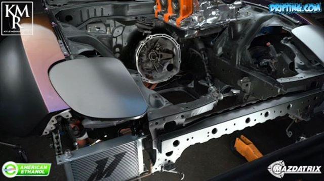 RX7 Engine Install by @kylemohanracing