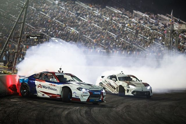 Drifting into the Holidays like @PiotrWiecek   @FalkenTire vs. @FalkenTire   @AchillesTire  Watch Highlights from our 2019 Season on our YouTube channel (link in bio)  FD 2019   @BlackMagicShine