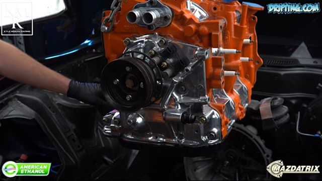 Installing a 13B Rotary Engine into a FD3S RX7 @kylemohanracing Video by @driftingcom