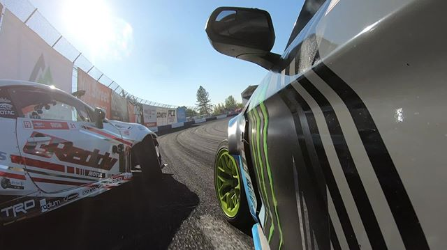 On the attack : @GoPro @KenGushi | @AchillesTire vs. @VaughnGittinJr | @NittoTire