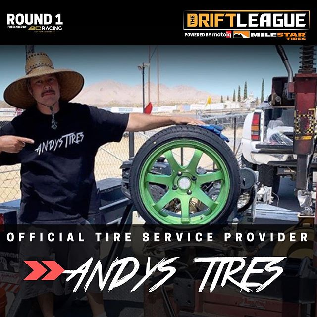 The man, the legend, the one and only... @andystires will be our OFFICIAL tire service provider for Round 1! •• The Drift League is a @formulad PRO2 licensing series presented by @milestar.tires & @motoiq   Round of 1 of The Drift League is presented by @bcracingna. •Date/Time: Saturday, March 7 (Gates open at 3 PM) •Location: @irwindalespeedway  •Price: $15/person at the gate (free parking)    $3,000 CASH going to the podium. 1st place: $1,500 2nd place: $1,000 3rd Place: $500  REGISTER AT THEDRIFTLEAGUE.COM Season discounts available for a limited time.  CAR SHOW SHOWDOWN -Car show -Vendors -Awards Visit theautoground.com/events to register. 