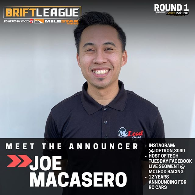 Welcoming back the official voice of The Drift League... @joetron_3030   •• The Drift League is a @formulad PRO2 licensing series presented by @milestar.tires & @motoiq   Round of 1 of The Drift League is presented by @bcracingna. •Date/Time: Saturday, March 7 (Gates open at 3 PM) •Location: @irwindalespeedway  •Price: $15/person at the gate (free parking)    $3,000 CASH going to the podium. 1st place: $1,500 2nd place: $1,000 3rd Place: $500  REGISTER AT THEDRIFTLEAGUE.COM Season discounts available for a limited time.  CAR SHOW SHOWDOWN -Car show -Vendors -Awards Visit theautoground.com/events to register. 