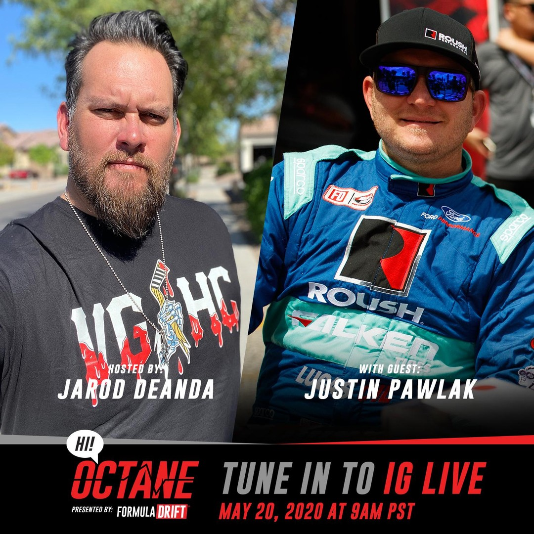 Tune into our Instagram Live tomorrow at 9am PST as @JarodDeAnda goes live with @JustinPawlak13 for the newest episode of HI! Octane.