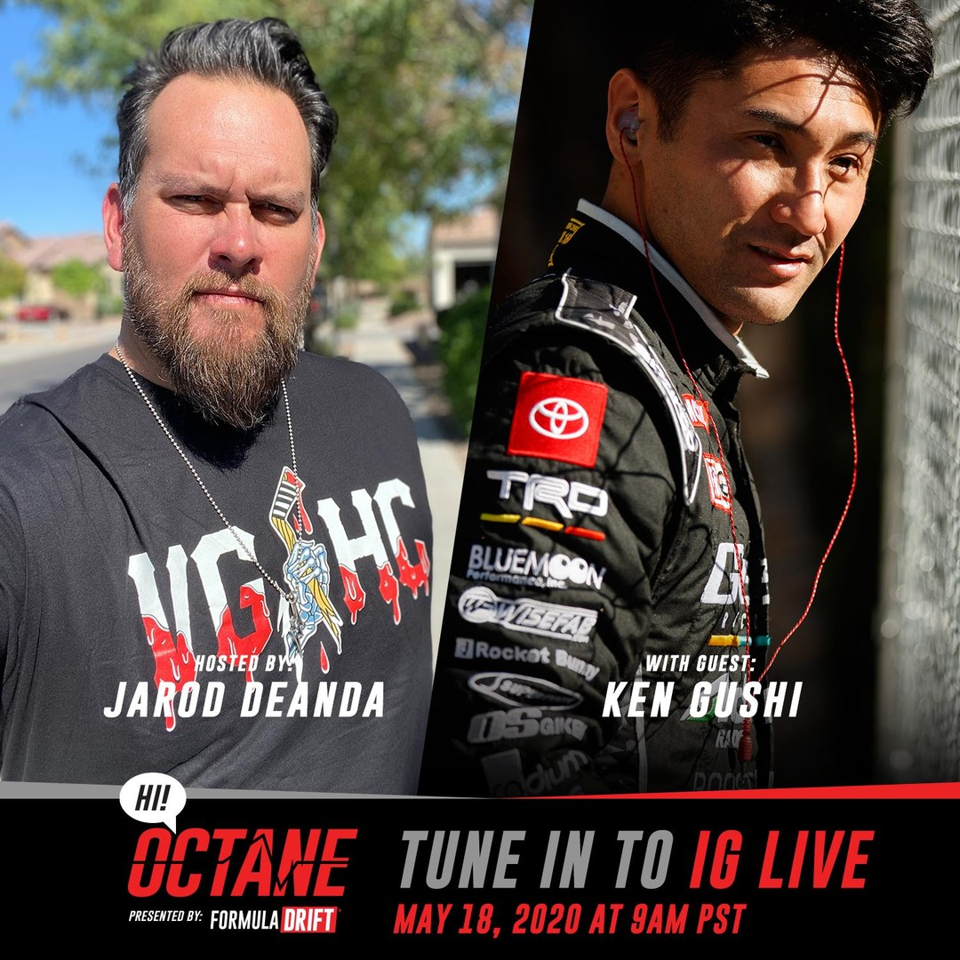 Tune into our Instagram Live tomorrow at 9am PST as @JarodDeAnda goes live with @KenGushi for the newest episode of HI! Octane.