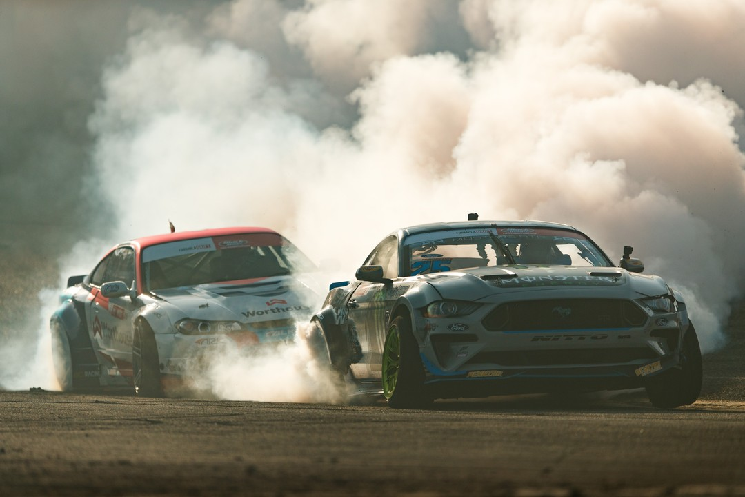 Name some of the most aggressive battles from last season @VaughnGittinJr | @NittoTire vs. Piotr Wiecek | @FalkenTire