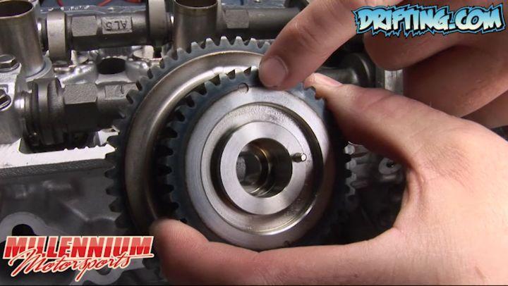 Intake Cam Gear - VQ35DE Engine Rebuild by @millennium_motorsports - OEM VQ35DE Intake Cam Timing Sprocket - Part #: 13025-EA22A > 13025-8J100 > 13025-CD000 > 13025-EA210 Fits models: 350Z / G35 / FX35 / FX45