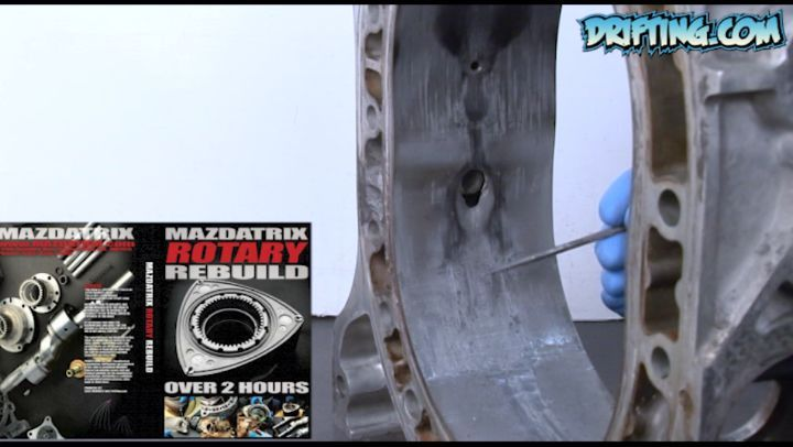 Rotor Housing Damage Inspection - Rotary Rebuild Video available on DRIFTING.COM - Video by @driftingcom Rebuild by @kylemohanracing at @mazdatrixofficial