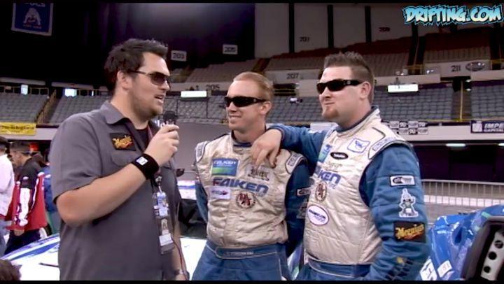 Chris Forsberg, Vaughn Gittin Jr. and Jarod DeAnda - Formula D Team Drift at 2006 Long Beach Grand Prix