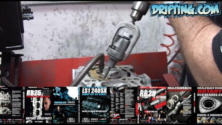 Honing Valve Guides - 2JZ Engine Rebuild - Full Video Sold on @driftingcom