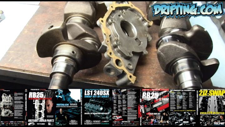 RB25DET Oil Pump Drive Crank Collar - RB25DET Engine Rebuild - Tech Videos sold on @driftingcom