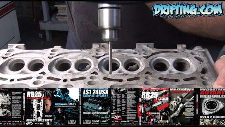 Valve Guide Reaming - 2JZ Engine Rebuild - Full Video Sold on @driftingcom
