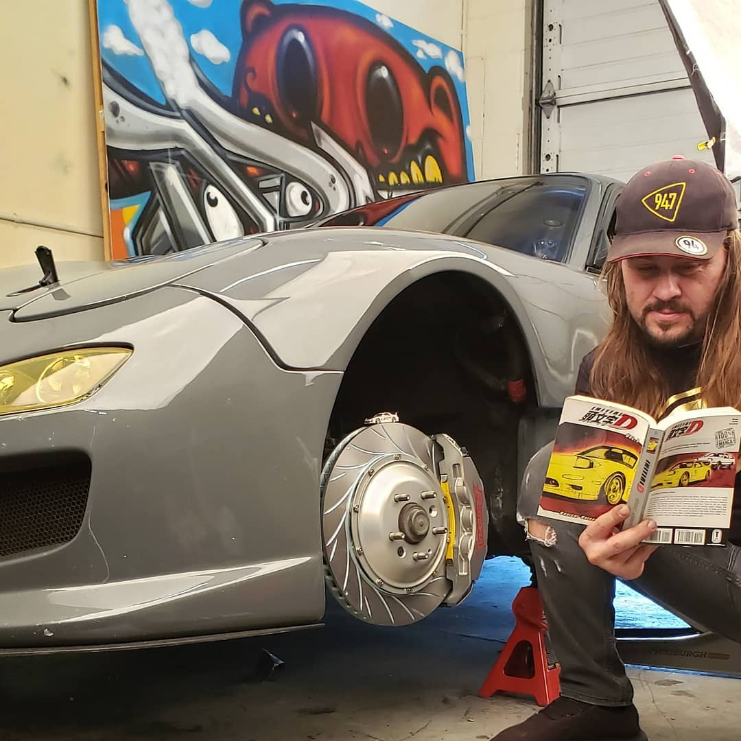 RX7 Big Brake Install Weekend ! @rotorainc @94seven_media @driftingcom