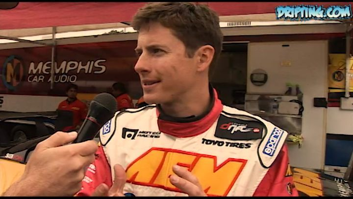 Tanner Foust @tannerfoust  at 2007 Formula Drift Long Beach - Interview by Ali @katethejeep