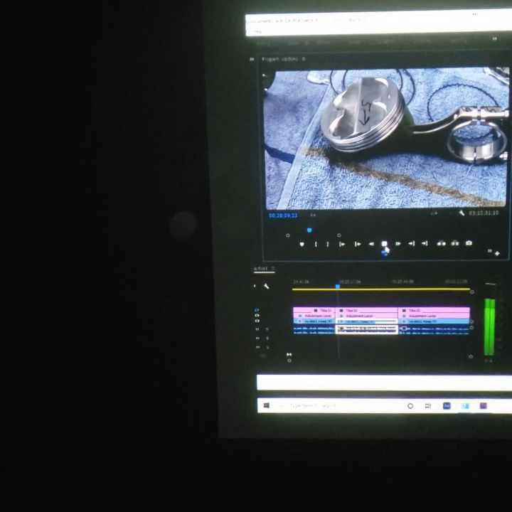 Video Editing with a Movie Projector Pointed at a Ceiling since 2007