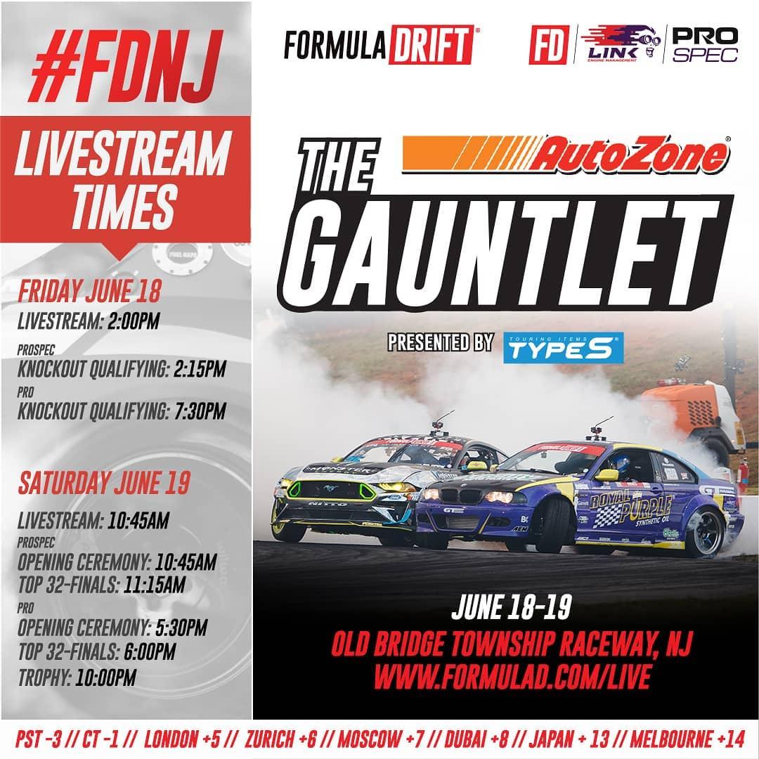 Formula Drift Round 2 2021 Live Stream Schedule